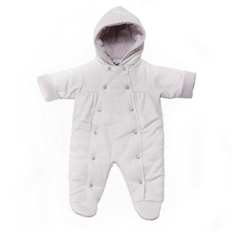 Dandelion Grey Checked Snowsuit | Millie and John