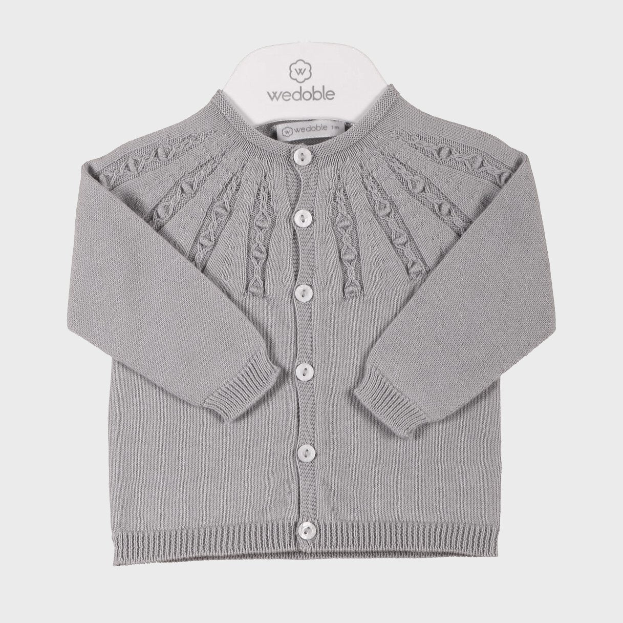 Wedoble Grey Fine Knit Cardigan | Millie and John