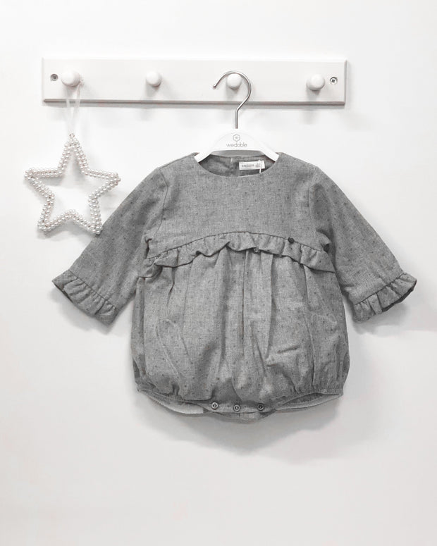 Wedoble Grey Glitter Polka Dot Romper | Millie and John