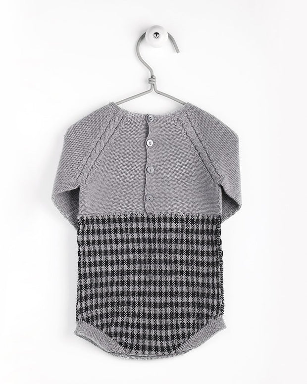Wedoble Grey Houndstooth Knitted Shortie | Millie and John