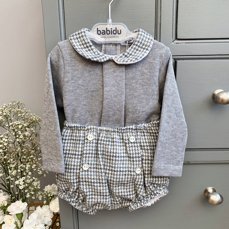 Grey Houndstooth Top & Jam Pants