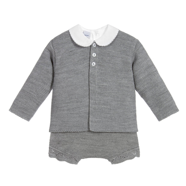 Babidu Grey Knitted 3-Piece Set | Millie and John