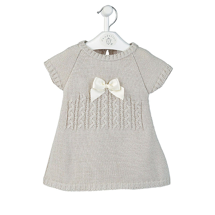 Dandelion Grey Knitted Bow Dress | Millie and John