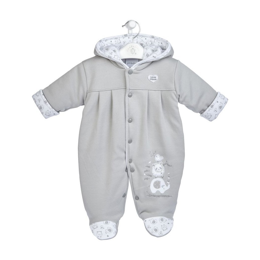 "Dandelion Grey ""Little Elephant"" Pramsuit 