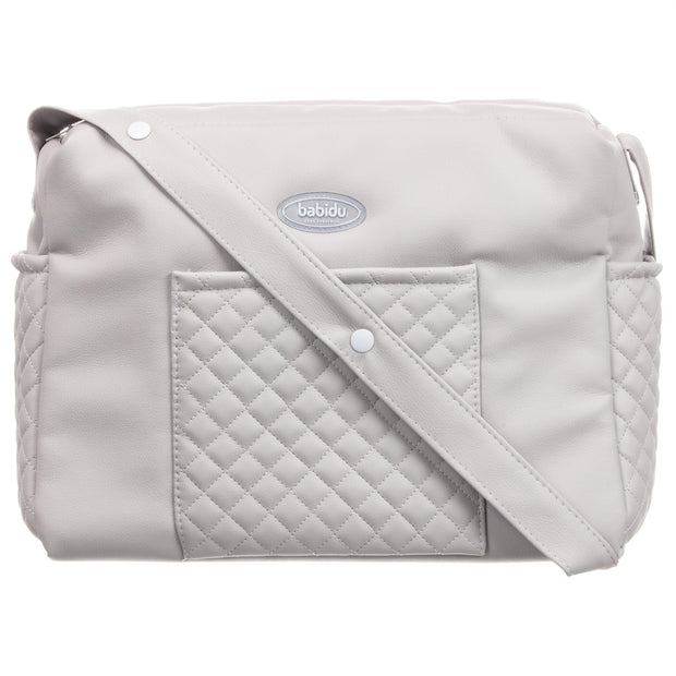 Babidu Grey Quilted Changing Bag | Millie and John