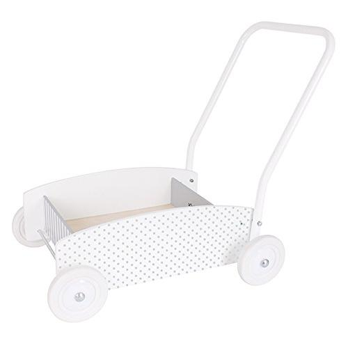 JaBaDaBaDo Grey Wooden Baby Walker Wagon | Millie and John