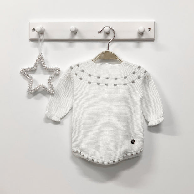 Ivory & Silver Knitted Shortie
