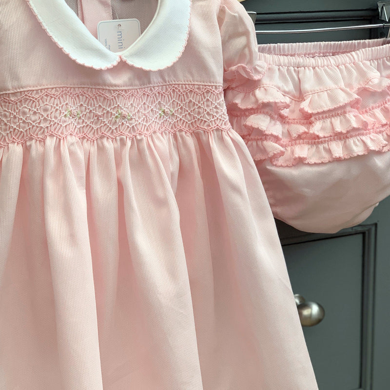 "Mini-la-Mode ""Katy"" Pink Smocked Dress & Knickers 