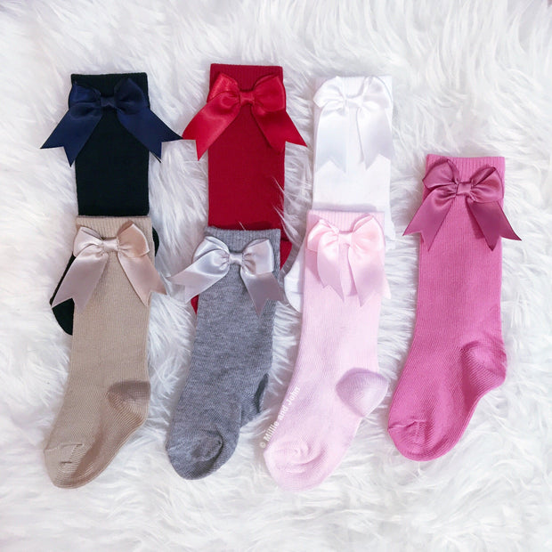Kinder Knee High Bow Socks | Millie and John