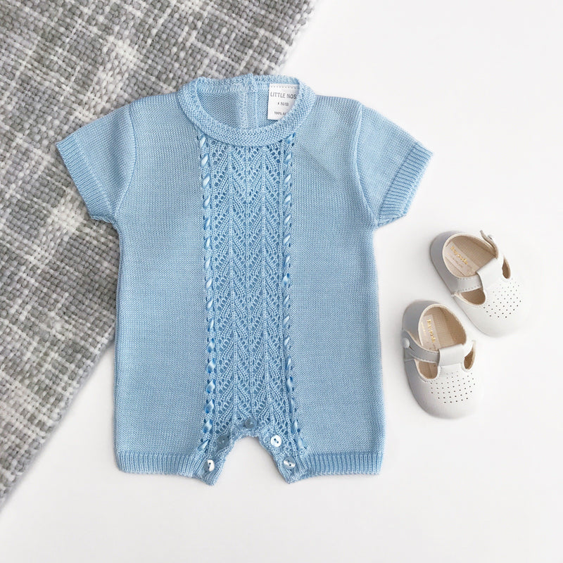 Little Nosh Lace Knit Romper | Millie and John
