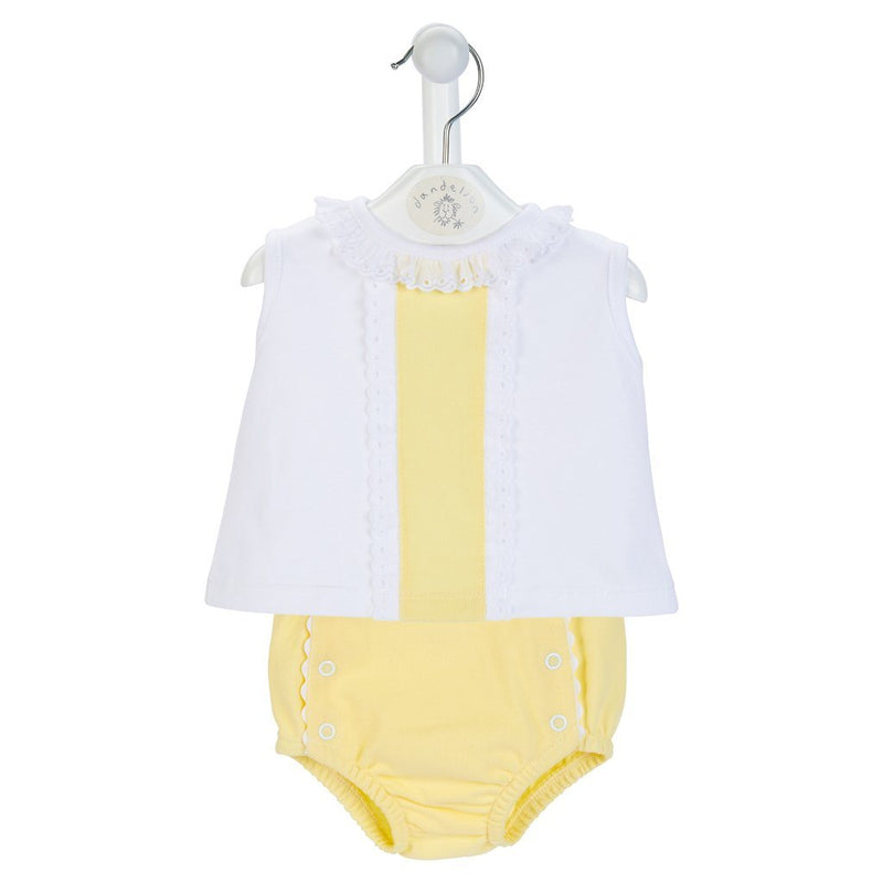 Dandelion Lemon Blouse & Knickers | Millie and John