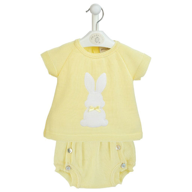 Dandelion Lemon Bunny Top & Jam Pants | Millie and John