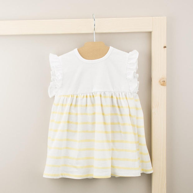 Babidu Lemon Striped Dress | Millie and John