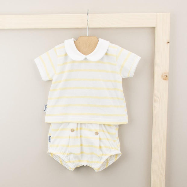 Babidu Lemon Striped Top & Jam Pants | Millie and John
