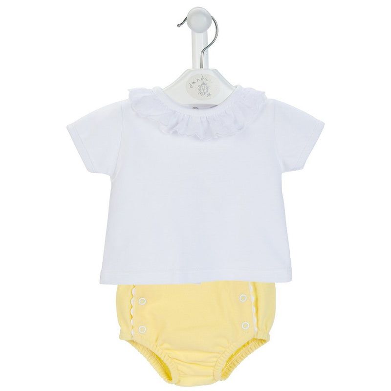 Dandelion Lemon T-Shirt & Knickers | Millie and John