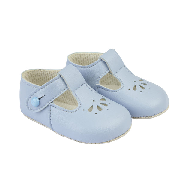 Baypods Light Blue Petal Punch T-Bar Shoes | Millie and John