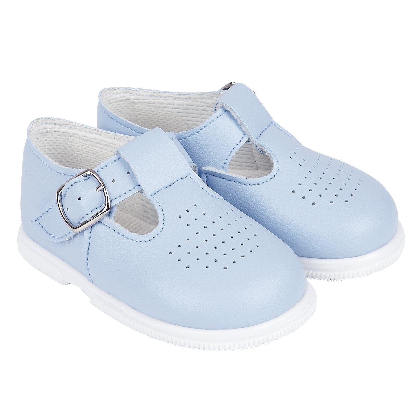 Baypods Light Blue T-Bar Hard Sole Shoes | Millie and John