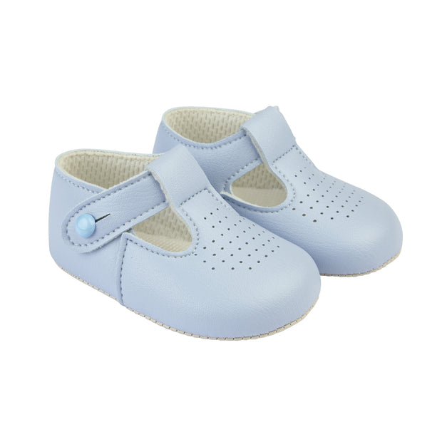 Baypods Light Blue T-Bar Soft Sole Shoes | Millie and John