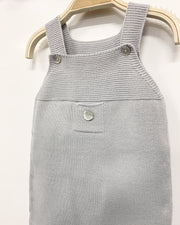 Granlei Light Grey Knitted Dungarees | Millie and John