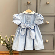 "Mini-la-Mode ""Little Belle"" Blue Smocked Dress 