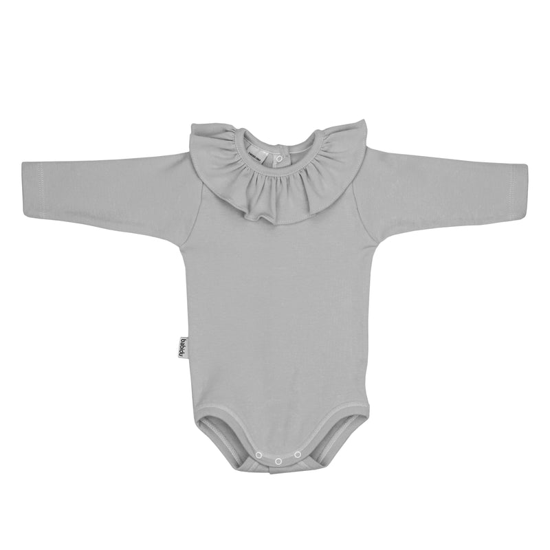 Babidu Long Sleeve Ruffle Collar Bodysuit | Millie and John