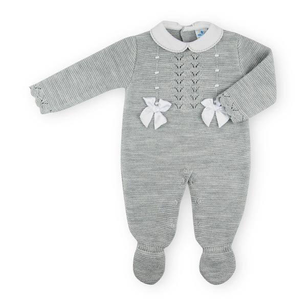"Sardon ""Mara"" Grey Knitted Babygrow 