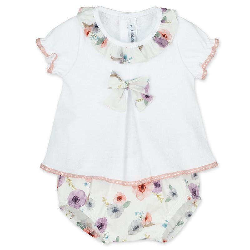 "Calamaro ""Martinica"" Floral Blouse & Bloomers 