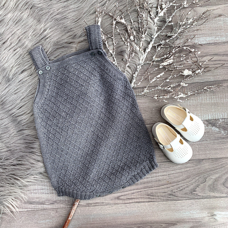 Medium Grey Diamond Stitch Romper
