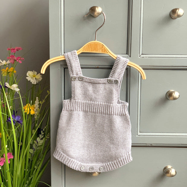 Wedoble Medium Grey Knitted Dungaree Romper | Millie and John