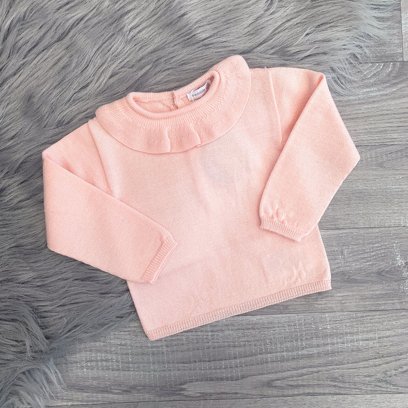 Wedoble Medium Pink Ruffle Collar Jumper | Millie and John