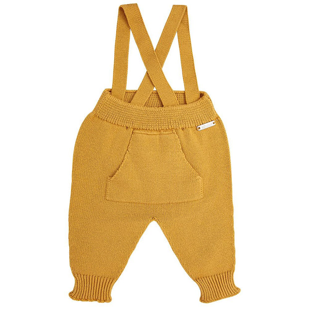 Condor Mustard Knitted Trousers with Braces | Millie and John