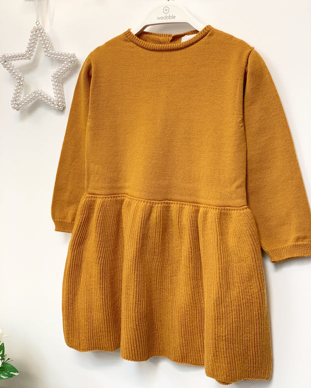 Wedoble Mustard Wool Dress | Millie and John
