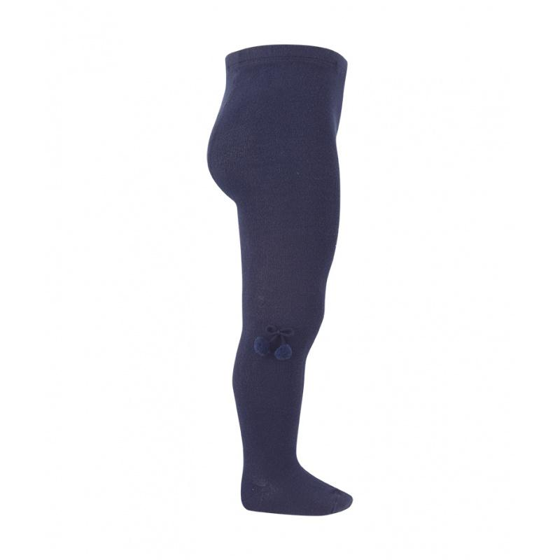 Condor Navy Blue Pom Pom Tights | Millie and John