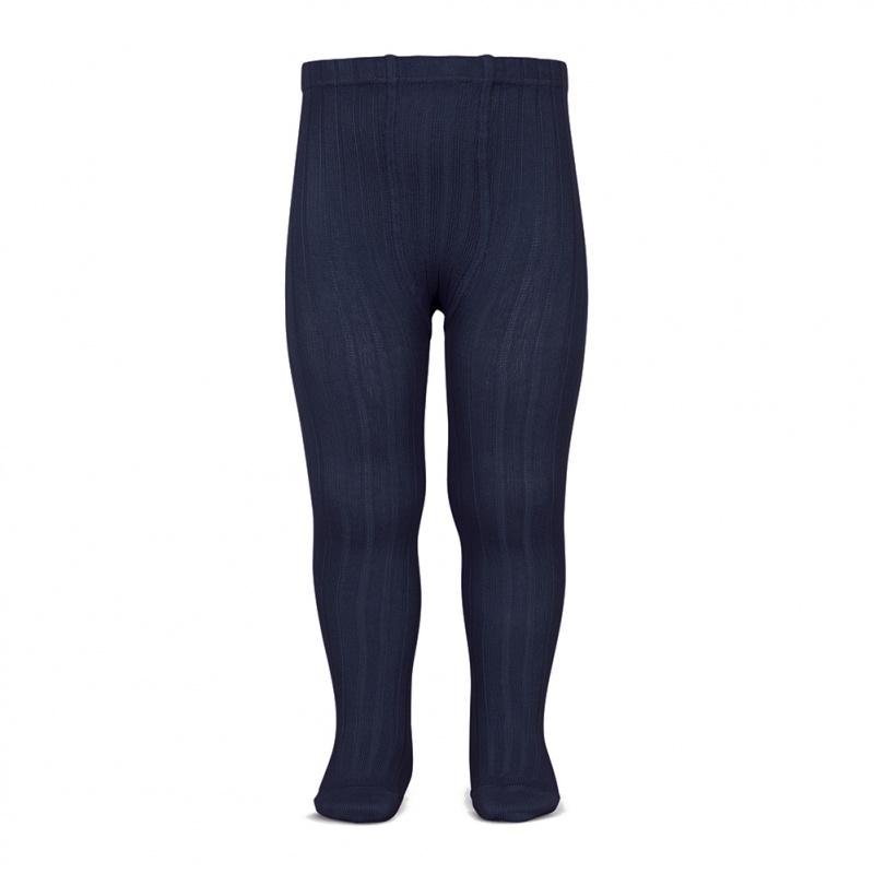 Condor Navy Blue Ribbed Tights | Millie and John