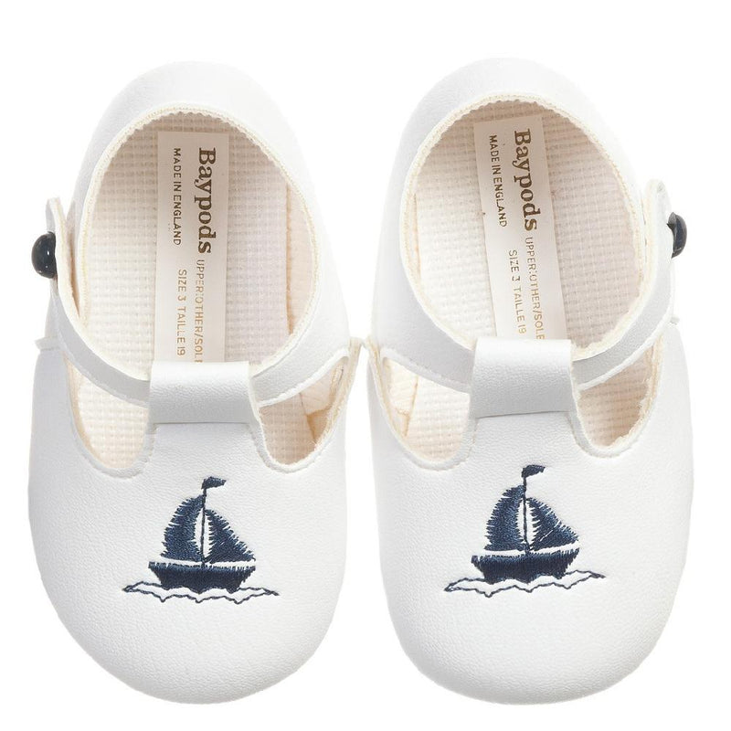 Baypods Navy Blue Sailboat Soft Sole Shoes | Millie and John