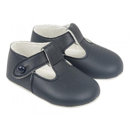 Baypods Navy Blue T-Bar Soft Sole Shoes | Millie and John
