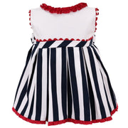 Baby-Ferr Navy, White & Red Striped Dress | Millie and John