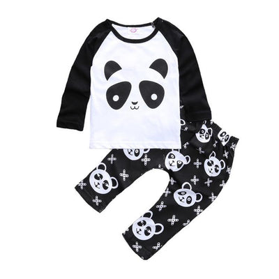 Millie and John Panda Top and Leggings Set | Millie and John