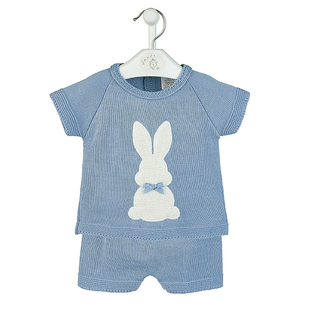 Dandelion Petrol Blue Bunny Top & Shorts | Millie and John