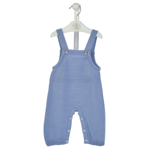 Dandelion Petrol Blue Knitted Dungarees | Millie and John