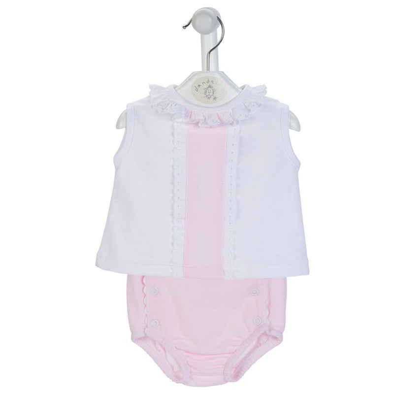Dandelion Pink Blouse & Knickers | Millie and John