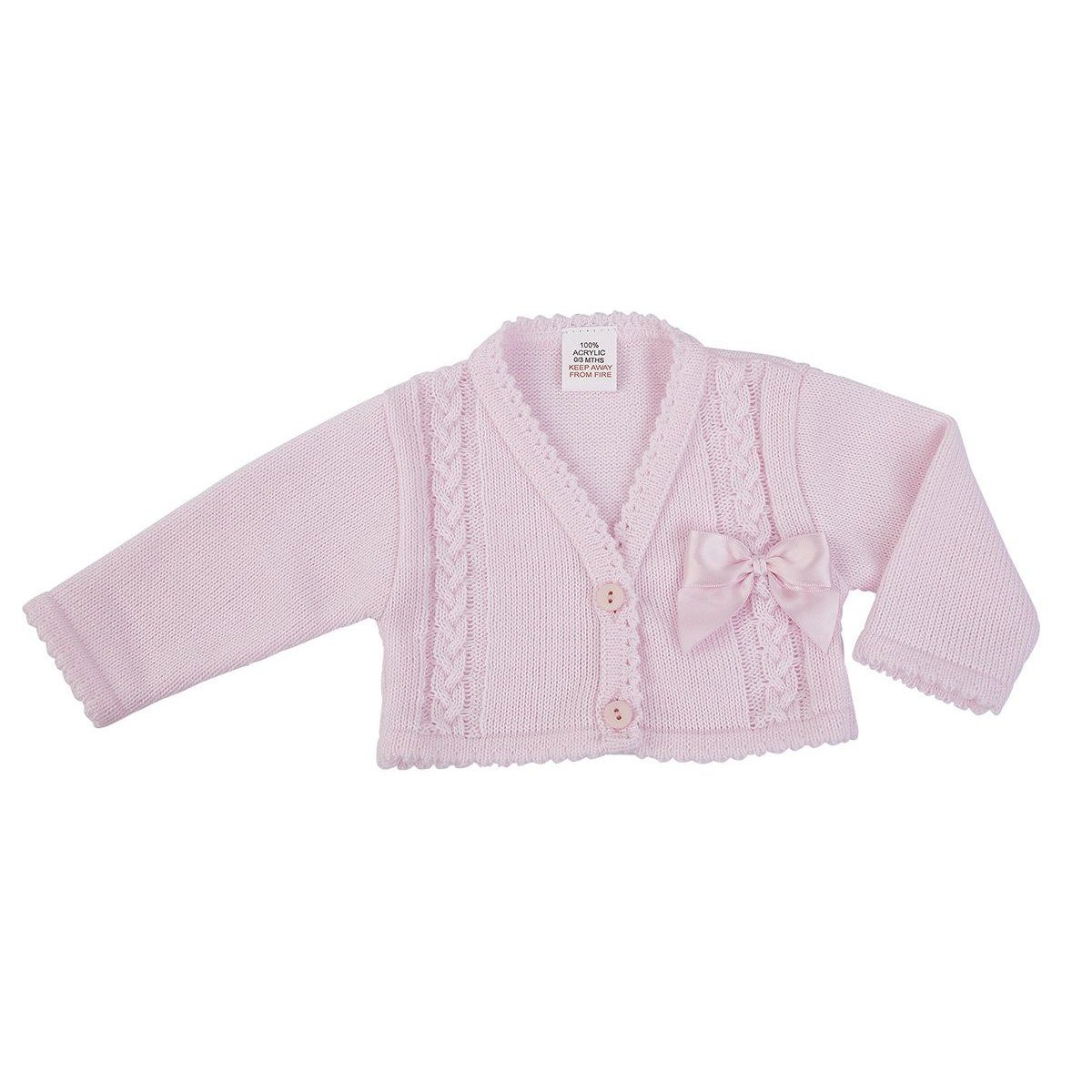 Dandelion Pink Bow Cardigan | Millie and John