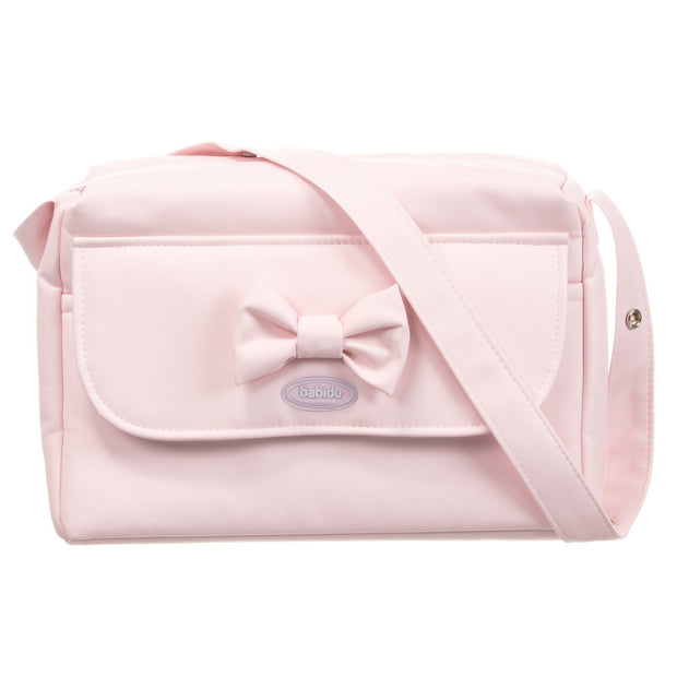 Babidu Pink Bow Changing Bag | Millie and John