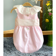 Phi Pink Bow Romper | Millie and John