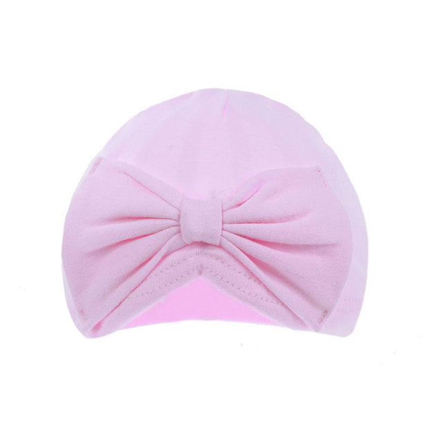 Soft Touch Pink Bow Turban | Millie and John
