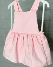 Rapife Pink Cord Pinafore Dress | Millie and John