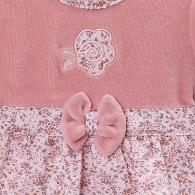 Dandelion Pink Floral Velour Dress | Millie and John