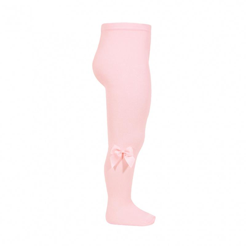 Condor Pink Grosgrain Bow Tights | Millie and John