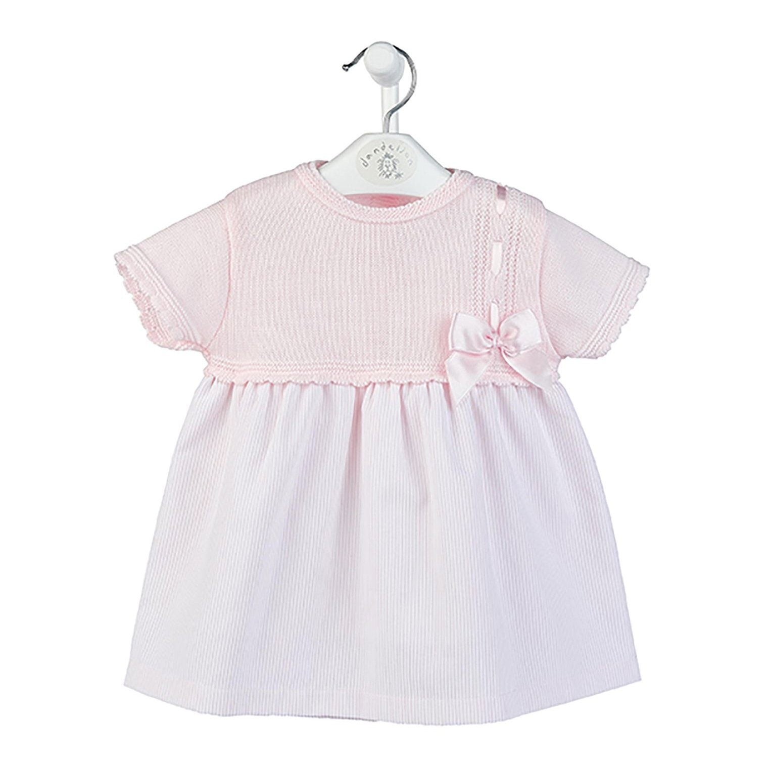 Dandelion Pink Half Knit Bow Dress | Millie and John