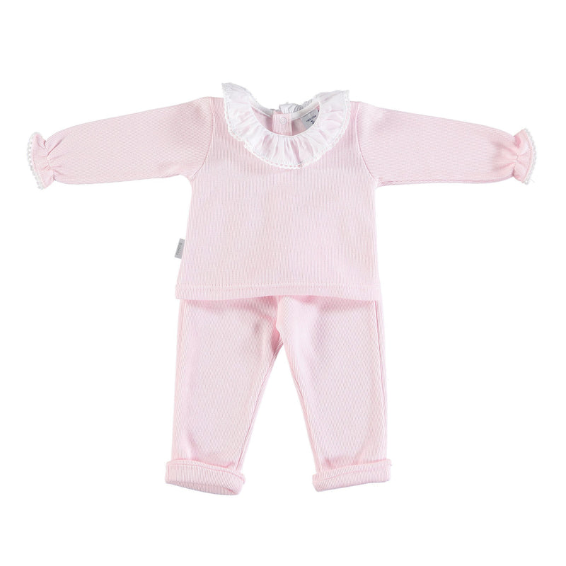 Babidu Pink Jersey Cotton Tracksuit | Millie and John